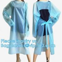 China Disposable CPE plastic gown/Plastic coat Elastic cuff/Thumb Cuff,disposable hospital CPE isolation gown /protection gown wholesale
