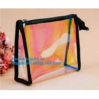 China Eco-Friendly Transparent Soft EVA Plastic Cosmetic Packaging Bags With Zipper Top,EVA Plastic Durable Cosmetic Bagease wholesale