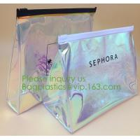 China PVC EVA Plastic Pouches for Hanging Products Clear Make Up Brush Cleaner Cosmetic Bags Beauty EVA PVC Cosmetic Pouch For wholesale