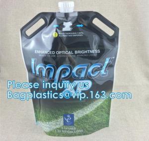 China liquid soap pouch hand santinizer bag shaped packaging, Stand Up Liquid Soap Spout Pouch Bag, wash fluid liquid soap bag wholesale