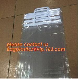 China HANGER HOOK BAGS,GARMENT BOTTON CLOSURE BAGS, EVA FROST DRAWSTRING BAGS, VINYL HANGER HOOK BAG wholesale