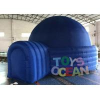 China Blue Commercial Used Advertising Dome Projection Tent With Tunnel , Inflatable Dome Tent wholesale