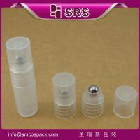 Shengruisi packaging SRS-3ml plastic reffiled roll on bottle with PP ball