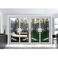 Quality 5mm Commercial Aluminium Sliding Door Exterior Clear Tempered Art Glass for sale