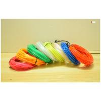 China Cheaper price in China 2017 brightness multicolor EL wire roll 4meter/10meter on sale
