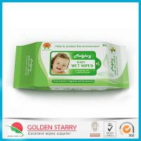 China Fragrance Biodegradable Baby Wet Wipes 80 Sheets with Flip Lid wholesale
