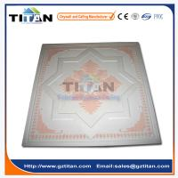 Painted Gypsum Board : Embossed hand painted grg colored gypsum ceiling tiles of