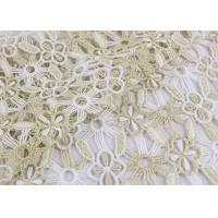 China Polyester Lace Fabric With Floral Lace Designs Metallic Fabric For Fashion Garment wholesale