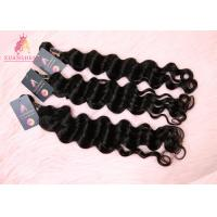 China 10A Double Drawn Virgin Indian Hair, Loose Wave 8''-30'' Inch Bundles on sale