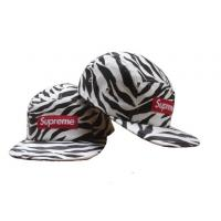 China Allover Zebra Printed 5 Panel Camper Cap With Flat Embroidery Logo wholesale