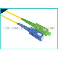 China ST - ST Fiber Optic Patch Cables , Aqua PVC Sheath Fiber Jumper Cables on sale