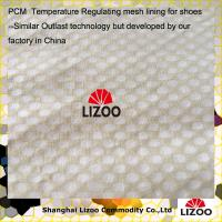 China Temperature Regulating phase change material mesh lining for shoes Made In China wholesale
