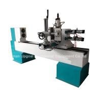 China Turning Broaching Engraving Wood Lathe Machine with Double Axis Double Blade wholesale