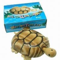 China Wooden toy tortoise, has 4 wheels wholesale