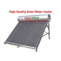 China Stainless Steel Evacuated Tube Solar Hot Water Heater Freestanding Installation on sale