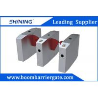 China Waist Height Flap Barrier Gate , Turnstile Access ControlWith Bar Code Scanner wholesale