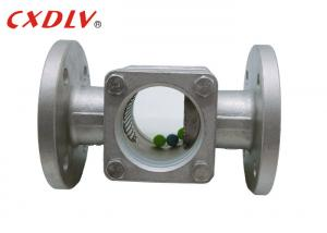 China ANSI CF8 Straight Through Flanged Sight Glass With Balls Inside wholesale