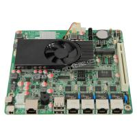 China Fanless 4 Ethernet Ports Mini ITX Atom Motherboard D2550 With 2 SATA / PCI wholesale