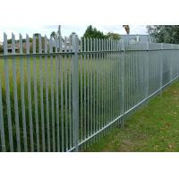 China W Type Palisade Security Fence / Decorative Metal Palisade Fence Panels wholesale