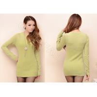 China Cashmere Ladies Crew Neck Sweaters Pullover wholesale