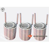 China Water Tank Stainless Steel Heat Exchanger Coil Anti - Freezing Capability wholesale