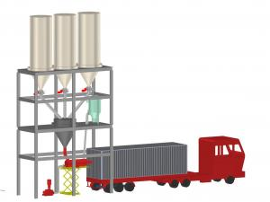 China SS316L 20ft Bulk Truck Loading System With Screw Conveyor wholesale