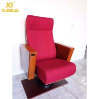 China Europe Wooden Auditorium Theater Seating Independent / Single leg Strong Structure wholesale