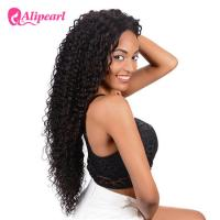 Quality Long Human Hair Curly Lace Front Wigs Deep Wave For Black Women for sale