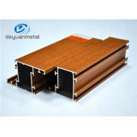 China Nature Color Wood Grain Aluminium Extrusions / Aluminum Framing System SGS wholesale