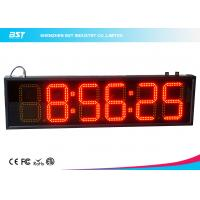 China 6 Inch Red Digital Led Clock Display Support 12 / 24 Hour Format Switch wholesale