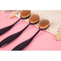 China Toothbrush Shape Makeup Brush Black Nylon Handle 14.5 cm Total Length wholesale