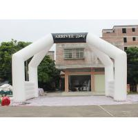 China White Custom Inflatable Arch Double Stitch Sewing For Event Advertising wholesale