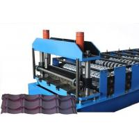 China CE Glazed Tile Sheet Metal Roll Forming Machines , Roofing Sheet Making Machine wholesale