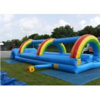 China inflatable tropical slide ,giant inflatable slip rainbow inflatable slip slide wholesale