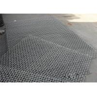China Black Stainless Steel Woven Wire Mesh , Gravel Stone Sand Mining Sieve Mesh wholesale