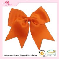 China Orange Girls Cheering Hair Bows Clip cute Baby hair accessories OEM Accepted on sale