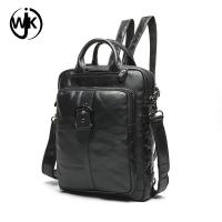 China 2019 latest product custom high quality unisex leather sling backpack with handle shaped soft tote backpack men leather wholesale