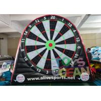 China 6 X 5m Double Sided Football Soccer Dart Board Inflatable Sport Game Goal Post wholesale