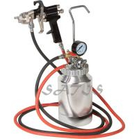 China 3 bar Pneumatic Tool  2ltr Pressure Tank with Air Regulator Paint Pot Spray Gun for shoes , wood wholesale