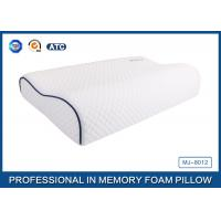 China Customized Embroidery Logo Tencel Fabric Contour Memory Foam Pillow With Piping wholesale
