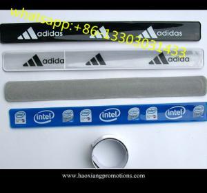 China OEM hot-selling promotional custom Reflective Slap Wristbands wholesale