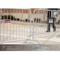 China 1.1 X 2.2m Briadge Feet Crowd Barrier (China Factory) | Galvanised Steel Pedestrian Barricade wholesale