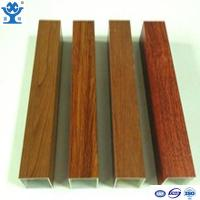 China Competitive price wood finish extruded aluminum hollow tube aluminum square tube on sale