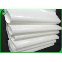 China Grade AA 40gsm 50gsm 60gsm+10g PE Coated White Kraft Paper Roll For Packing wholesale