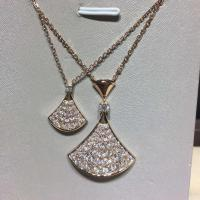 China BVLGARI  brand  jewelry BVLGARI DIVA  full diamonds necklace in 18 kt pink gold  Also available in white and yellow gold wholesale