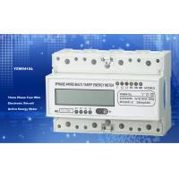 Quality Light Weight Three Phase Energy Meter Accuracy 1.0  PC 35mm Din Rail For Home for sale