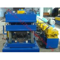 China 2 Waves W Type Highway Guardrail Roll Forming Machine Export Macedonia Greece Metal Cold Rolling Forming wholesale