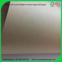 China BMPAPER Made in china close to korea recyceled kraft paper liner  for cement bags on sale