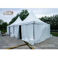 China 3x3m Aluminum Frame Gazebo Canopy Tent With Plain White Pvc Sidewalls wholesale