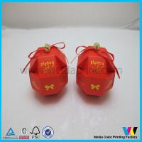 China CMYK Pantone Special Paper Candy Red Box With Bow For Wedding Or Party on sale